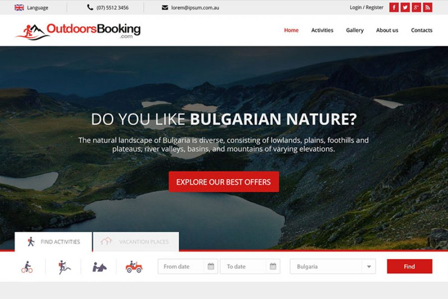 Outdoors Booking